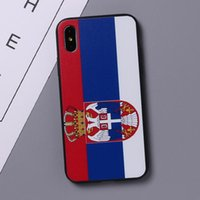 Wholesale uk iphone case - 2018 Russia World Cup National Team Flag Spain German Russian US UK Korea Shockproof TPU+PC Phone Case Cover for iPhone X 7 8 Plus 6 6S hot