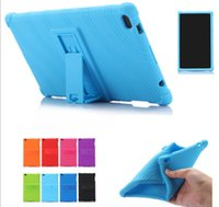 Wholesale china tablet stylus resale online - Soft Silicone Rubber Tablet Case for Lenovo Tab Plus TB F TB8704N Back Cover with Stand Gift Stylus Pen