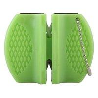 ingrosso affilatrice in lamiera ceramica-Mini tasca di ceramica in acciaio al tungsteno Camp Pocket portatile da cucina per affilare gli utensili Affilatura rapida di pietra all'ingrosso