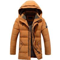ingrosso giacca invernale jeep-AFS JEEP Winter Dress Down Jacket per uomo Outwear Warm Colletto con cappuccio Fashion Parkas Plus Size M-XXXL Uomo Winter Down Coat 158