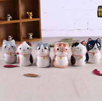 Wholesale lucky cats for sale - Group buy Japan style ceramic maneki neko home decor crafts room decoration porcelain animal figurine lucky cat ceramic ornament gifts