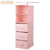 Wholesale Organize Homes - Underwear Sort Home Storage box Fashion door Cabinet Storage Wardrobe closet organizer Hanging Boxes Clothing Organize