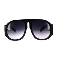 Wholesale Beach Arms - Fashion Beach Acetate Sungalsses with case Black Oversized Big Optical Frame Glasses with Extra Big Sun Glasses in Thick arm