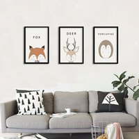 Wholesale triptych wall art modern for sale - Group buy Triptych Nordic Minimalist Modern Decorative Canvas Painting Art HD Print Poster Animal Wall Paintings Living Room Home Decoration