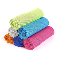 Wholesale rolled cotton hair resale online - Zip Top Can Packing Cool Towel Heatstroke Prevention Cooling Cold Loop Towels Sporting Washcloth Absorbing Sweat Comfortable kf