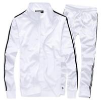 Wholesale mens fleece cardigans - Fashion Mens Sportswear Casual Male Sweatshirt Man Brand Sports Suit Men Leisure Outdoor Hoodie Tracksuit free shipping