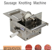 Wholesale Sausage Machines - MY32A 42A 52A Handle Stainless steel sausage knotting machine,sausage casings binding machine,smoked sausage knot machine LLFA