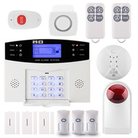 Wholesale Gsm Home Intruder Alarm System - GSM APP LCD Security Wireless GSM Autodial SMS Office Home House Burglar Intruder Alarm system kit