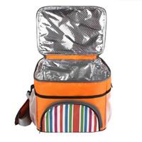 yalıtılmış piknik çantaları toptan satış-Açık Taşınabilir Termal Yalıtımlı Soğutucu Çanta Ekstra Büyük Piknik Öğle Yemeği Çantası Kutusu Gezileri BARBEKÜ Buz Paketi Aksesuarları Kamp Piknik