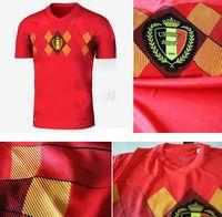Wholesale Sewing Feet - 2018 World Cup Belgium Soccer Jerseys Sewn logoes S--XXXL DE BRUYNE LUKAKU HAZARD FELLAINI WITSEL KOMPANY Football jersey maillot de foot