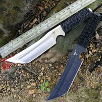 clones cuchillo al por mayor-Cuchillo militar al aire libre de alta dureza cuchillo recto desierto supervivencia especial combate cuchillo portátil ks39