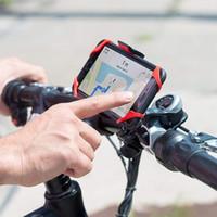 phone holder bicycle toptan satış-Bisiklet Bisiklet Tutucu Anti Slayt Kolu Telefon Dağı Gidon Genişletici Tutucu Telefon Cep Telefonu Için GPS Vb Bisiklet Aksesuarları