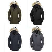 Wholesale flowers pattern jersey resale online - Luxury down Canada famous Outdoor sports brand Goose down man thick Outerwear t Parka Winter Warm Thick Down Coats with Hooded Warm