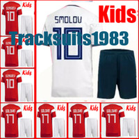 Wholesale teen s - Rugby Boys 2018 2019 Kids Russia Jersey Kokorin Dzyuba Smolov 18 19 Home away Jerseys 10 or more free to send DHL child teens