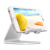 Wholesale tablet cell phone note resale online - Universal Aluminum Metal Cell Phone Tablets PC Desk Stand Holder Support Bracket For iPhone S S SE For Galaxy Note