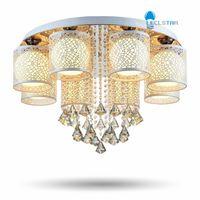 Wholesale crystal restaurants - New Crystal ceiling Pendant Lamps Living room bedroom restaurant home   commercial lighting Led chandelier AC 90-260V