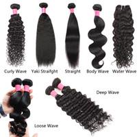 Wholesale straight human hair prices resale online - Meetu Hair Bundles inch Brazilian Human Hair A Loose Wave Yaki Straight Deep Curly Body Wave Straight Water Wave Price