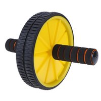 Wholesale roller abdominal exercise for sale - Group buy Double wheeled Updated Ab Abdominal Press Wheel Rollers Crossfit Exercise Equipment for Body Building Fitness for Home Gym Y1892612