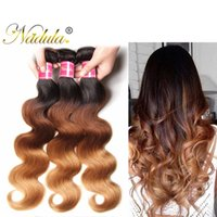 Wholesale Wet Wavy Ombre Weave - Nadula T1B 4 27 Ombre Body Wave Bundles Brazilian Virgin Ombre Hair Extensions Remy Human Hair Weaves 4Bundles Wet and Wavy Wholesale Hair