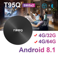 Wholesale android player tv for sale - New T95Q GB GB GB Android Amlogic S905X2 Quad Core ARM TV BOX Wifi BT4 M H K Media Player Smart Box