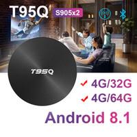 caja de tv android brazo al por mayor-Nueva caja T95Q 4GB 32GB / 64GB Android 8.1 Amlogic S905X2 ARM CUADRÓN DE TELEVISIÓN Wifi BT4.1 1000M H.265 4K Media Player Smart Box