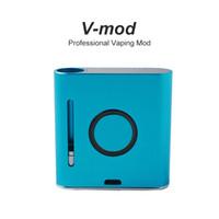batarya mods toptan satış-V-MOD Profesyonel Vaping Mod 900mAh Vapmod Pil Mods Ön Isıtma Değişken Gerilim 510 Konu Vape Kutusu Mod Kalın yağ Kartuşları için