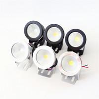 12v acuario luces led al por mayor-LED de luz subacuática LED 10W AC 110v 220v DC 12V Fuente de acuario Pool lámpara de luz IP68 Impermeable Wash Spot luz caliente / cool luces blancas