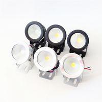 ingrosso lavare la lampada-LED Subacqueo a LED 10W AC 110v 220v DC 12 V Acquario Fontana Lampada per piscina IP68 Impermeabile Wash Spot luce Caldo / freddo luci bianche