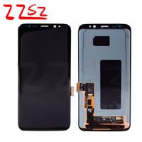 quadro de tela i545 venda por atacado-Original Para Samsung Galaxy S8 além de lcd G955 G955F G955A G955FD G955P G955S G950F G950A ecrã táctil LCD digitador livre DHL