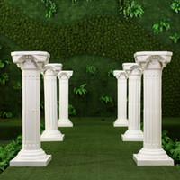 ingrosso pillars props-Colonne di stile romano di lusso Colore bianco Pilastri di plastica Strada citata Puntelli di nozze Decorazione di eventi Forniture