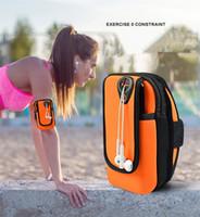 caixas impermeáveis para telefone celular venda por atacado-Braço universal bolsa de jogging sacos de braçadeira esportes à prova d 'água correndo case bag workout braçadeiras titular para samsung celular telefone móvel
