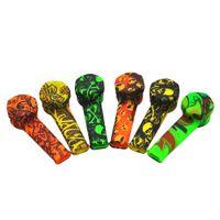 Wholesale reggae smoke - New Reggae Silicone Tobacco Smoking Pipe with 100% Food-Grade silicone smoking Pipe Flavourable Color Random