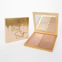 Wholesale Hot Bronzer - Hot Sell Ky lie Jen ner The Wet Set 4color Bronzer & Highlighters Pressed Powder Palette Unbothered Get A Way By Kylie Cosmetics