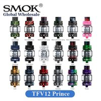 Wholesale bear tanks - Authentic SMOK TFV12 Prince Tank 2ml 8ml Capacity 25.5mm Diameter Wide Bore Drip Tip 100% Original SMOKTECH Sub Ohm Atomizer