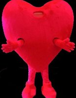 1b34c91540 NEW HOT SALE Pure Love Red Heart Mascot Costume Adult Size Romantic Valentines  Day Birthday Party Carnival Mascotte Outfit Suit