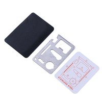 Wholesale multi function swiss knives online - Bidentate in Credit Card Survival Multi Tool Swiss Army Knife Card Stainless Steel Multi function Card Outdoor Tools
