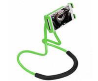 iphone como telefone venda por atacado-Suporte Preguiçoso Universal 360 Graus de Rotação Flexível Telefone Selfie Titular Cobra-como Pescoço Cama Montar Anti-skid Para iPhone Android.