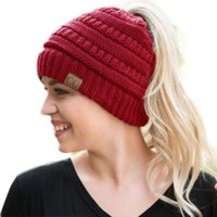 Wholesale wholesale sport beanie hats for sale - Colors Sports Style CC Brand Hats Ponytail Beanies Fitted Hat Luxury Polo Hats Women Bucket Hats Skull Caps