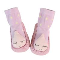 Wholesale bell shoes - Baby Sock Shoes Cartoon Newborn Baby Girls Boys Anti-Slip Socks Slipper Bell Shoes Boots