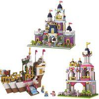 Wholesale princess castle building blocks for sale - Group buy 3 Models Diamond City Girl Friends bright color Romantic Castle Building Blocks Assembly Princess Dream House Bricks Toys Gift