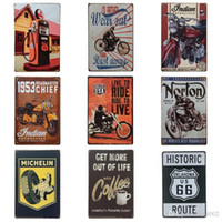 Wholesale Motorcycle Telephone Booth Tin Posters Get More Out Of Live cm Tin Sign Coffee Wall Art Iron Paintings New Arrival BB