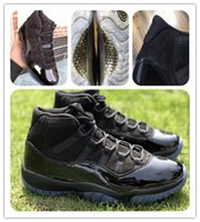 Wholesale carbon fiber shoes - 11 Prom Night basketball shoes 11s space jam bred concord Gym red Midnight blue Real carbon fiber XI Sports Shoes original box 378037-005