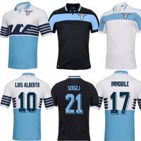 havza evleri toptan satış-Yeni tay kalite Lazio futbol Forması 18 19 IMMOBILE Home away beyaz JEVIC LUIS ALBRTO BASTA siyah Futbol forması üniforma formaları 2019