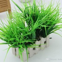 Wholesale flower plant spring for sale - Group buy Hand Made Artificial Green Plants Grass Eco Friendly Simulation Plastic Spring Grasses Household Store Dest Rustic Decorations xg B