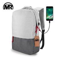 Wholesale Waterproof Rucksack Laptop - MARKROYAL External USB Charge Laptop Backpack Waterproof Rucksack Notebook Computer Bag 15.6 Inch for Women Men School Bag