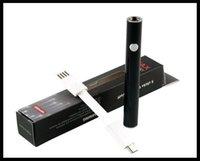 einstellbares ladegerät für elektronik großhandel-Mini 510 Faden Vorheizen Stift elektronische Zigarette Batterie 380mAh Wachs Co2 Öl Rauchen Gerät einstellbare Spannung unten Ladegerät mit USB