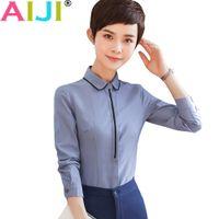 4c1bd110307af Formal white shirt women long sleeve chiffon blouse clothing patchwork work  wear summer OL slim office ladies 5xl plus size tops