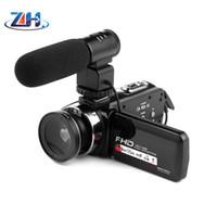 zoom hd 16 venda por atacado-1080 P Câmera de Vídeo Digital 3.0 HD Touch Screen 16 Zoom com IR Infravermelho Frete Grátis por E-packect