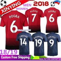 Wholesale xxl women tops - TOP 18 19 MAN women LUKAKU POGBA ALEXIS United soccer jersey 2018 Home Away MARTIAL LINGARD MATA MATIC RASHFORD SMALLING UTD football shirt