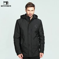 Wholesale china clothing factories - KENNTRICE Men's Coat Trench Big Size Parka Snow Wear Hooded Jacket Mens Clothes China Clothing Factories Basic Jacket